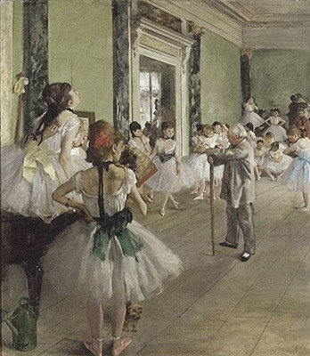 Edgar Degas - The dancing lesson - 1873/74