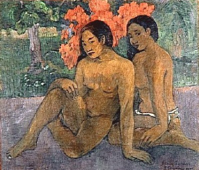 Paul Gauguin - Two tahitian women seated - 1901