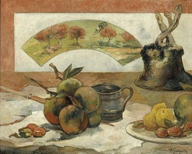 Paul Gauguin - Still life with fan - about 1889