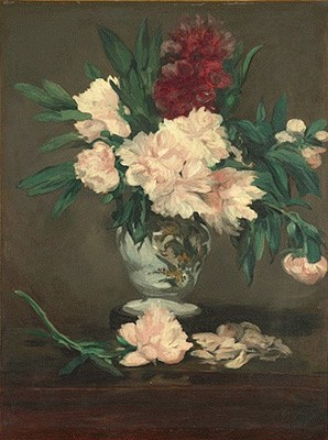Edouard Manet - Vase of peonies on pedestal - 1864