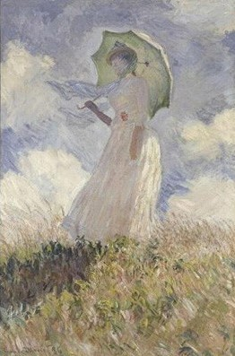 Claude Monet - Woman with parasol turned to the left - 1886