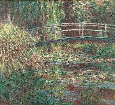 Claude Monet - Water lily pond,harmony rose - 1900